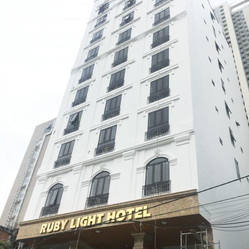 Thi công phào chỉ khách sạn Ruby Light Hotel Đà Nẵng